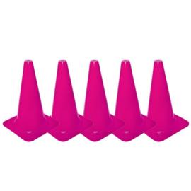 5 Roze pionnen en kegels