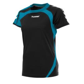Zwart - Blauw dames shirt korte mouw Odense van Hummel