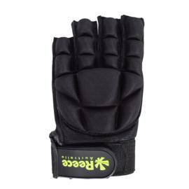 Hockey beschermingshandschoenen halve vingers zwart