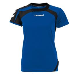 Blauw dames shirt korte mouw Odense van Hummel