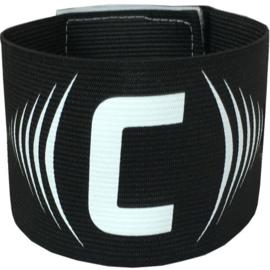Zwarte aanvoerdersband met klittenband