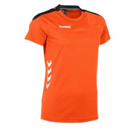 Oranje dames T-shirt Hummel Valencia
