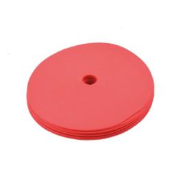 10 platte rode markeringsschijven