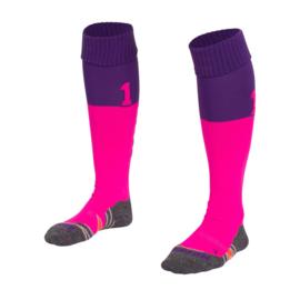 Roze met paarse Numbaa hockeysokken