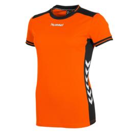 Hummel oranje dames shirt korte mouw Lyon