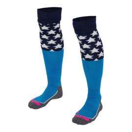 Blauwe hockeysokken met sterren van Reece