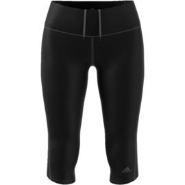 Driekwart running broek dames zwart Adidas