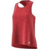 Running shirt Adidas Rood dames Response Tank