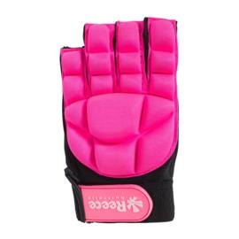 Hockey beschermingshandschoenen halve vingers roze