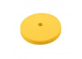 10 platte gele markeringsschijven