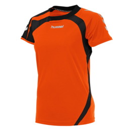 Oranje dames shirt korte mouw Odense van Hummel