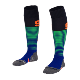 Blauwe groene zwarte Numbaa hockeysokken