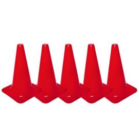 5 Rode pionnen en kegels