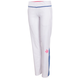 Witte stretched fit meisjesbroek