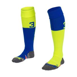Blauw gele Numbaa hockeysokken