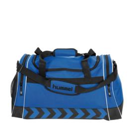 Grote blauwe Hummel sporttas voetbaltas