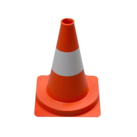 Oranje witte pionnen, 32 cm, 50 cm en 75 cm hoog