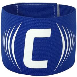 Blauwe aanvoerdersband met klittenband