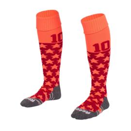 Oranje Numbaa hockeysokken met sterren