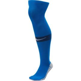 Lange blauwe Nike keeperssokken