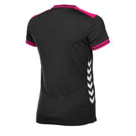 Zwart / pink dames shirt Hummel korte mouw Lyon