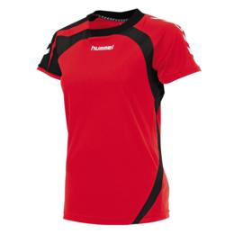 Rood dames shirt korte mouw Odense van Hummel