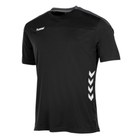 Zwart shirt korte mouwen Valencia van Hummel