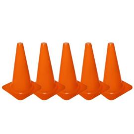 5 Oranje pionnen en kegels