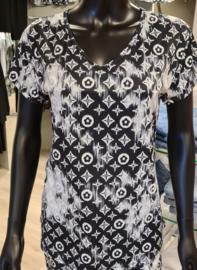 Travelstof shirt IZ NAIZ Zwart/Wit