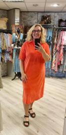 Velvet jurk lang