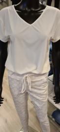 Travelstof shirt IZ NAIZ Roomwit