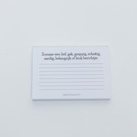 Zomaar een lief berichtje | Notitieblokje