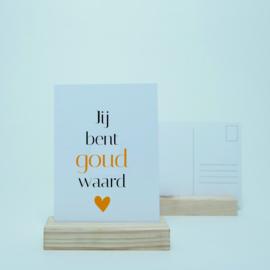 Jij bent goud waard | Goudfolie