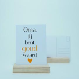 Oma, jij bent goud waard | Goudfolie