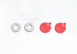 Metalen ringen en 3M plakstrips voor de Bull's Eye