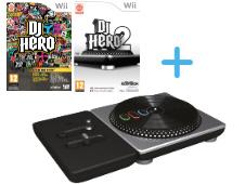 DJ Hero 1 + 2 + Draaitafel - Wii