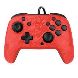 Faceoff Deluxe Wired Controller Camo Red