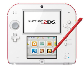 Nintendo 2DS Wit Rood + Tomadachi Life