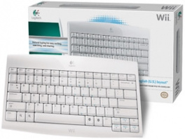 Logitech Cordless Keyboard For Wii in doos