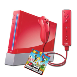 Nintendo Wii Rood New Super Mario Bros Pack