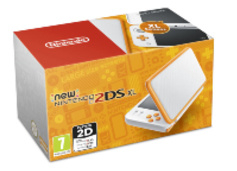 New Nintendo 2DS XL White Orange in doos