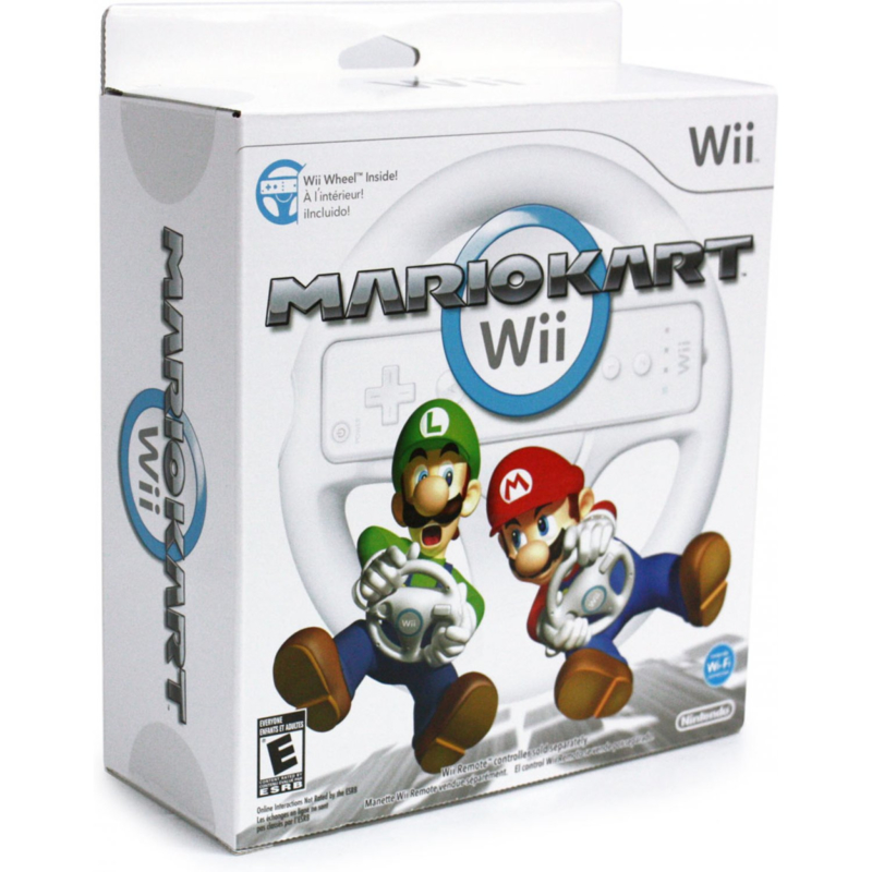 Mario Kart Wii & Nintendo Wii Wheel in doos