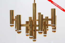 Brass Chandelier Designed By: Gaetano Sciolari
