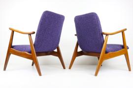 Koppel vintage fauteuils ontworpen door: Louis van Teeffelen voor Webe 1960