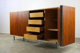 Vintage lowboard ontworpen door Cees Braakman voor Pastoe 1950