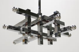 ''Metric'' chandelier Designed By: Gaetano Sciolari for Lightolier