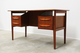 Danish Teak Desk Desinged By: Gunnar Nielsen Tibergaard