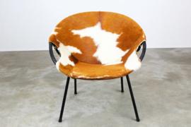 Pop art cowhide balloon chair by Hans Olsen 1950