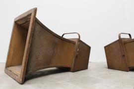 2 Antieke houten Bioscoop luidsprekers 1920-1930
