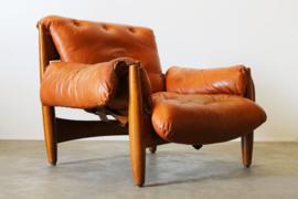 Originele ''Sheriff'' lounge chair ontworpen door Sergio Rodrigues voor ISA Italy 1962